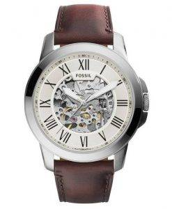 Fossil Grant Automatic Beige Skeleton Dial ME3099 Mens Watch