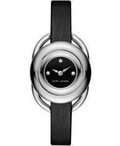 Marc by Marc Jacobs Jerrie Black Dial Leather Strap MJ1445 Womens Watch