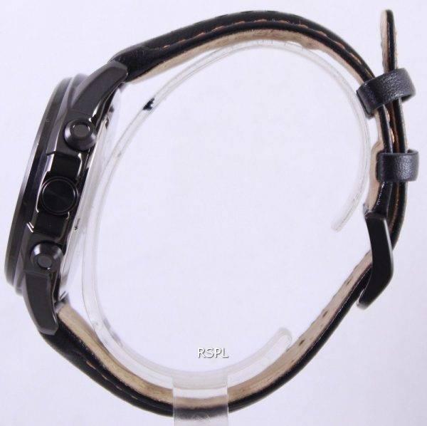 Citizen Eco Drive Black Leather Chronograph CA0375-00E Mens Watch