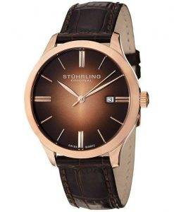 Stuhrling Original Cuvette II Swiss Quartz 490.3345K14 Mens Watch