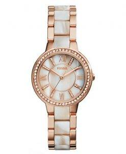 Fossil Virginia Crystals Horn Acetate Quartz ES3716 Women's Watch
