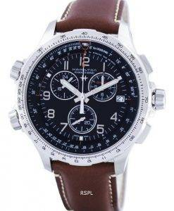 Hamilton Khaki Aviation X-Wind Chronograph Quartz GMT Swiss Made H77912535 Mens Watch