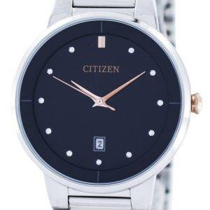Citizen Quartz Diamond Accent Black Dial BI5014-58E Mens Watch