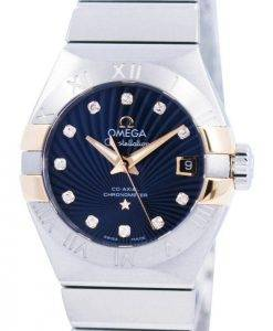 Omega Constellation Co-Axial Chronometer Diamond Accent 123.20.27.20.53.002 Womens Watch
