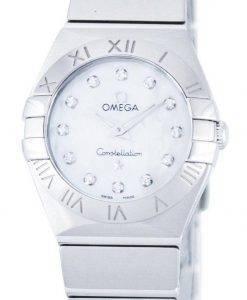 Omega Constellation Quartz Diamond Accent Power Reserve 123.10.24.60.55.001 Women's Watch