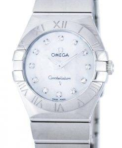 Omega Constellation Quartz Diamond Accent Power Reserve 123.10.27.60.55.001 Women's Watch
