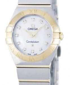 Omega Constellation Quartz Diamond Accent Power Reserve 123.20.24.60.55.002 Women's Watch