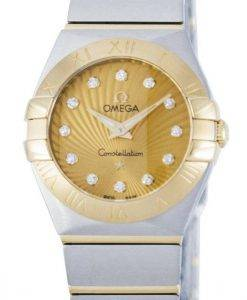 Omega Constellation Quartz Diamond Accent Power Reserve 123.20.24.60.58.001 Women's Watch