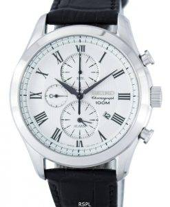 Seiko Chronograph Quartz Alarm SNAF69 SNAF69P1 SNAF69P Men's Watch