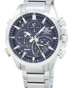 Casio Edifice Tough Solar Dual Dial World Time Bluetooth EQB-500D-1A Men's Watch