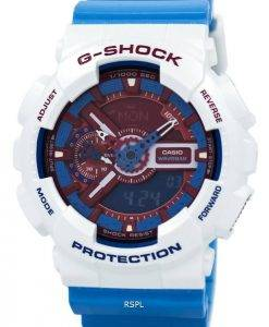 Casio G-Shock Red  Blue Analogue Digital GA-110AC-7A Mens Watch