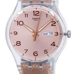 Swatch Originals Pink Glistar Quartz SUOK703 Unisex Watch