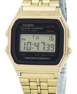 Casio Digital Alarm Chrono Stainless Steel A159WGEA-1DF A159WGEA-1 Womens Watch