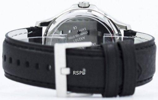 Armani Exchange Black Dial Leather Strap AX2101 Mens Watch
