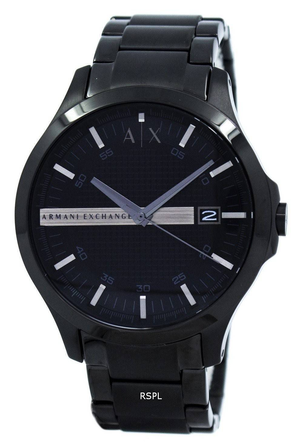 5f3c2efe45f Armani Exchange Black Dial Stainless Steel AX2104 Mens Watch Singapore