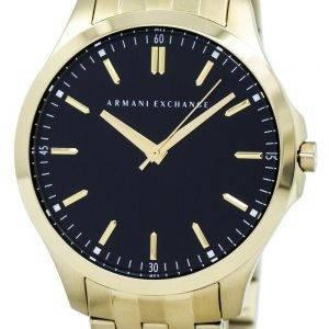 Armani Exchange Quartz Black Dial Gold Tone Stainless Steel AX2145 Mens Watch