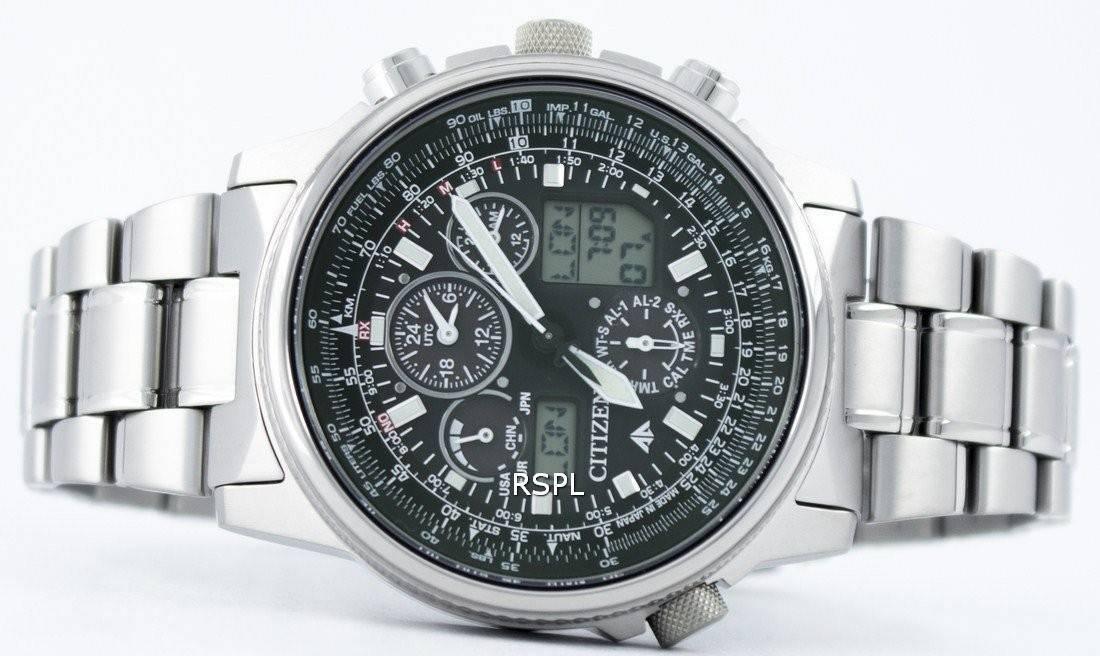 Citizen Promaster Sky Pilot Titanium Eco-Drive Radio Controlled World Time  JY8020-52E Men s c37027a82a0