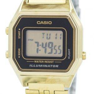 Casio Digital Quartz Stainless Steel Illuminator LA680WGA-1DF LA680WGA-1 Womens Watch