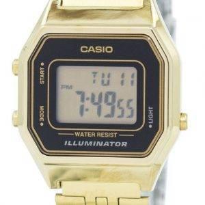 Casio Digital Quartz Stainless Steel Illuminator LA680WGA-1DF LA680WGA-1 Womens Watch