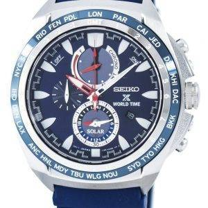 Seiko Prospex Solar World Time Chronograph Power Reserve SSC489 SSC489P1 SSC489P Men's Watch