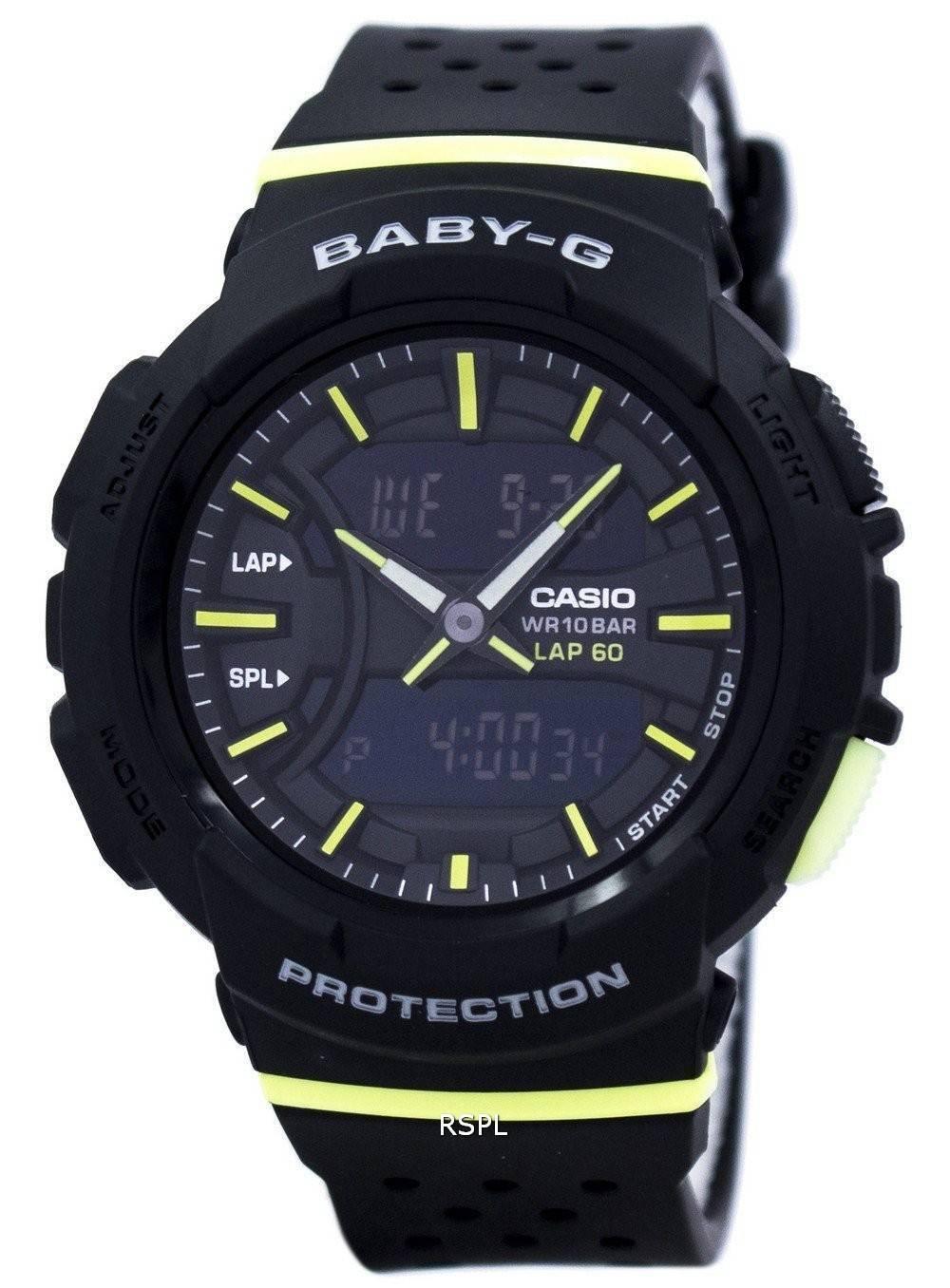 casio baby g shock resistant dual time analog digital bga