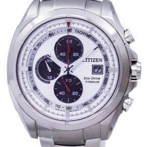 Citizen Eco-Drive Titanium Chronograph Tachymeter CA0551-50A Men's Watch