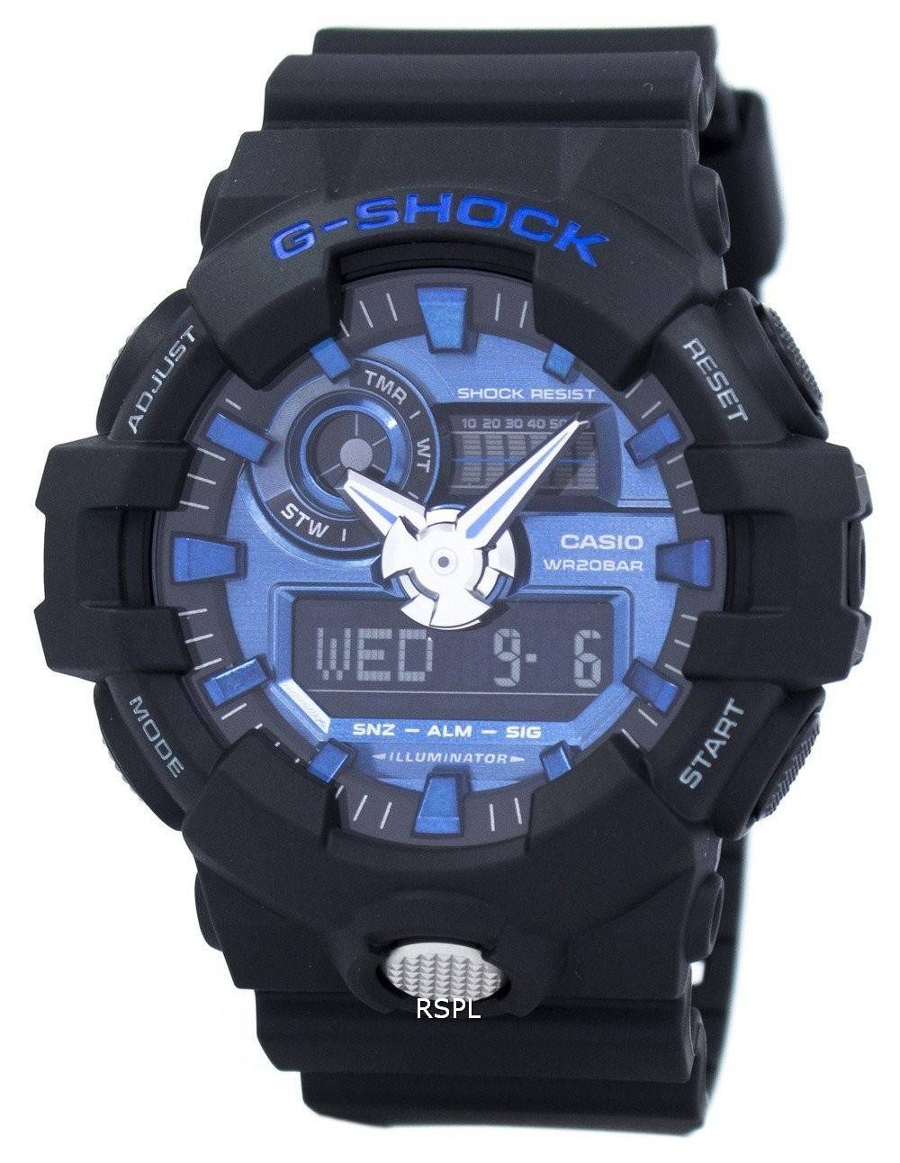 sneakers for cheap 01297 e49d8 Casio G-Shock Analog Digital 200M GA-710-1A2 Men's Watch