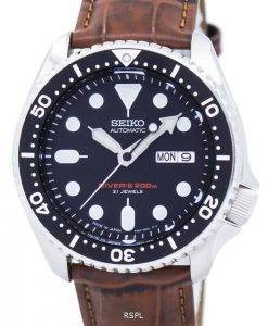 Seiko Automatic Diver's Ratio Brown Leather SKX007J1-LS7 200M Men's Watch