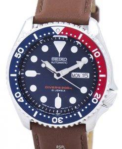 Seiko Automatic Diver's Ratio Brown Leather SKX009J1-LS12 200M Men's Watch
