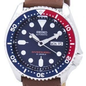 Seiko Automatic Diver's Ratio Brown Leather SKX009J1-LS12 200M Men's Watch