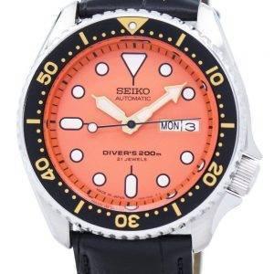 Seiko Automatic Diver's Ratio Black Leather SKX011J1-LS6 200M Men's Watch