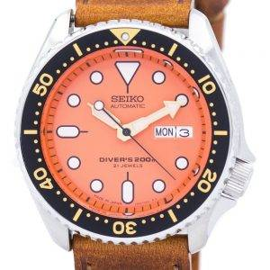 Seiko Automatic Diver's Ratio Brown Leather SKX011J1-LS9 200M Men's Watch