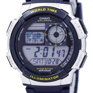 Casio Illuminator World Time Alarm AE-1000W-2AV Men's Watch