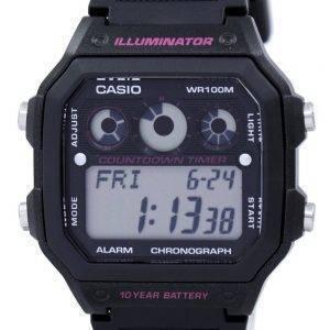 Casio Illuminator Chronograph Alarm Digital AE-1300WH-1A2V Men's Watch