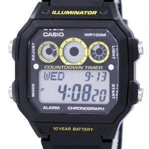 Casio Youth Series Illuminator Chronograph Alarm AE-1300WH-1AV Men's Watch