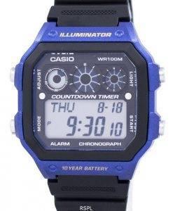 Casio Youth Series Illuminator Chronograph Alarm AE-1300WH-2AV Men's Watch