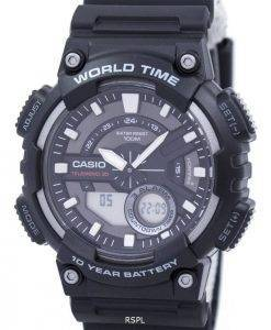 Casio Telememo 30 World Time Alarm Analog Digital AEQ-110W-1AV Men's Watch