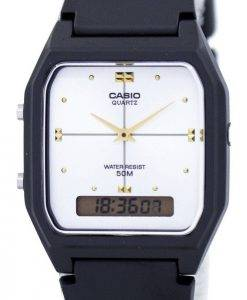 Casio Quartz Dual Time Alarm Analog Digital AW-48HE-7AV Men's Watch