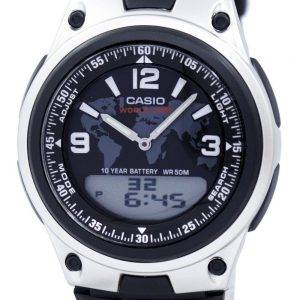 Casio Databank World Time Telememo Analog Digital AW-80-1A2V Men's Watch