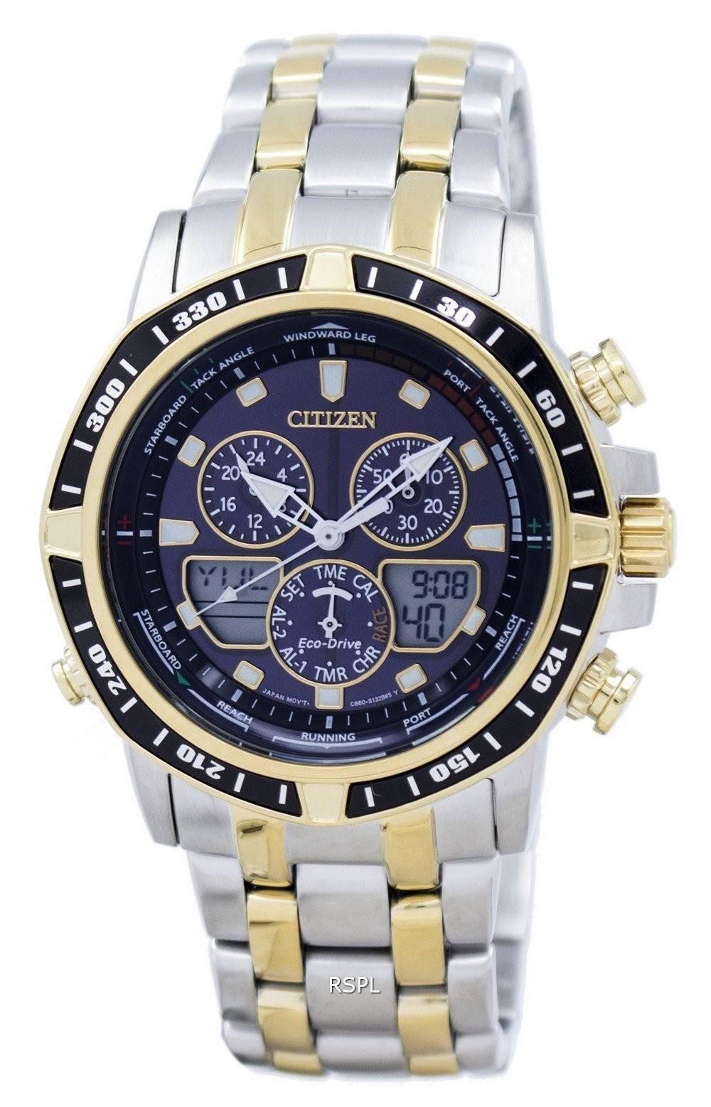 citizen eco drive sailhawk chronograph analog digital