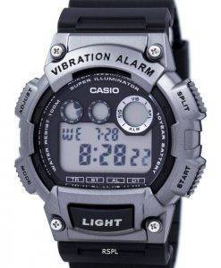 Casio Super Illuminator Dual Time Vibration Alarm Digital W-735H-1A3V Men's Watch