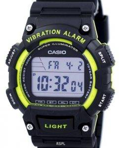 Casio Super Illuminator Vibration Alarm Dual Time Digital W-736H-3AV Men's Watch