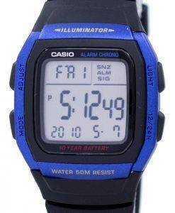 Casio Youth Series Illuminator Alarm Chronograph Digital W-96H-2AV Men's Watch