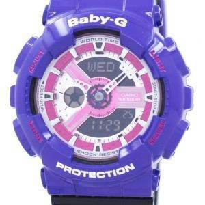 Casio Baby-G World Time Shock Resistant Analog Digital BA-110NC-6A Women's Watch