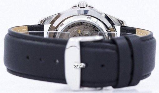 Seiko 5 Sports Automatic 23 Jewels Ratio Black Leather SNZF17J1-LS10 Men's Watch