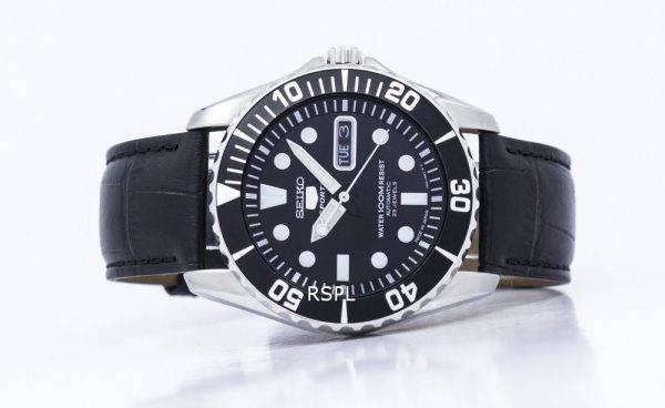 Seiko 5 Sports Automatic 23 Jewels Ratio Black Leather SNZF17J1-LS6 Men's Watch