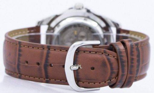 Seiko 5 Sports Automatic 23 Jewels Ratio Brown Leather SNZF17J1-LS7 Men's Watch