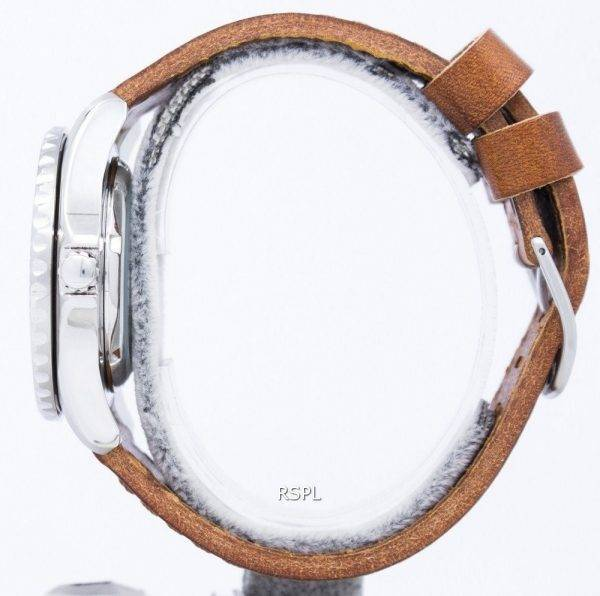 Seiko 5 Sports Automatic 23 Jewels Ratio Brown Leather SNZF17J1-LS9 Men's Watch