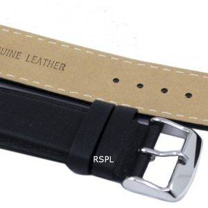 Black Ratio Brand Leather Strap 22mm For SKX007, SKX009, SKX011, SNZG07, SNZG015