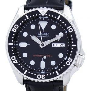 Seiko Automatic Diver's 200M Ratio Black Leather SKX007K1-LS6 Men's Watch